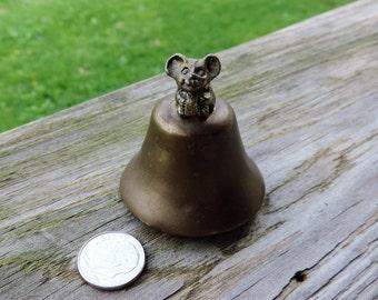 Miniature Brass Mouse Bell
