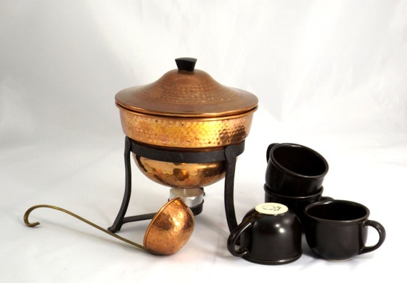 Complete Set for Serving Warm Mulled Wine, Xmas Glühwein