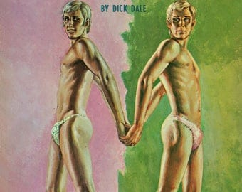 Gay pulp art print Mr. Fancy-Panties —  vintage pulp paperback cover repro
