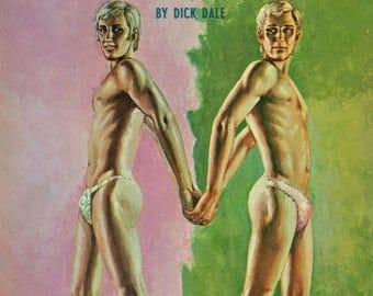 Gay pulp art print Mr. Fancy-Panties —  vintage pulp paperback cover repro