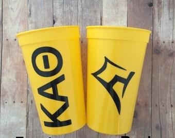 Kappa Alpha Theta Cup; Sorority Cup;  Kappa Alpha Theta Cup; KAO Cup; Theta Stadium Cup; kao Tumbler; KAO Gift; KAO Accessories