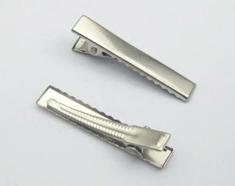 40mm Single Prong Alligator Hair Clips with Teeth