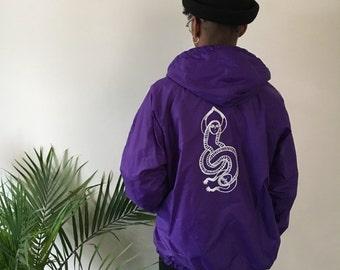 Purple Screenprinted Athletic Jacket (medium)