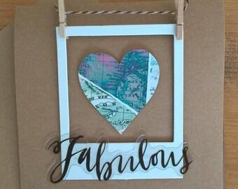 Fabulous polaroid card