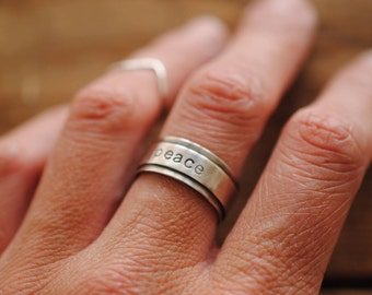 Stamped Letter Ring | Sterling Silver | Custom