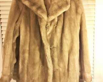 Vintage Fur Evening Coat by Dubrowsky & Perlbinder Made in France
