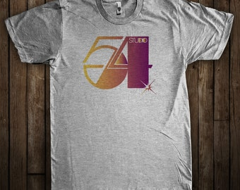 Studio 54 Disco Shirt 1970s New York Vintage Disco Dance Club Dancing Shirt