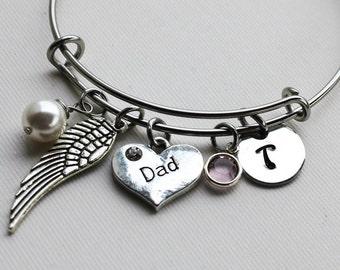 memorial bracelet, personalized memorial bracelet, memorial initial bracelet, personalized memorial gift, memorial initial bracelet
