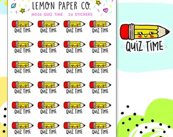 M036 Quiz Time // Kawaii Planner Stickers