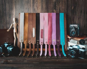Leather camera strap, Personalized, gift for men, gift for women, personalised gift, slr, dslr camera strap, canon, nikon camera strap