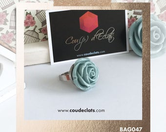 Ring Rose - Grey-blue