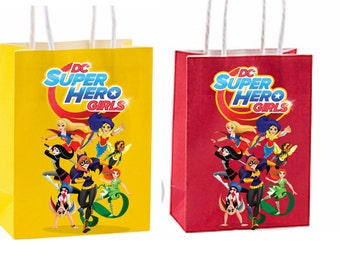 Dc superhero girls Party Favor Bag instant download