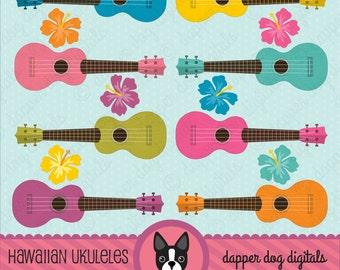Ukulele Clipart Set - Commercial Use, Vector Images, Digital Clip Art, Digital Images