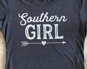 Southern Girl Screen Printed T-Shirt
