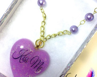 Sweetheart <3 Kiss Me Necklace