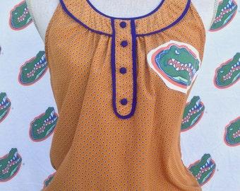 Gators Shirt- U of F Gators Shirt- U of F Shirt- U of F Gators Gift- University of Florida Gators- Vintage Gators Fabric- Eco- Size Medium
