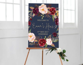 Bridal Shower Sign | Hens Party Welcome Sign | Printable Hens Party Sign | Bridal Party Sign | The Lucy Suite