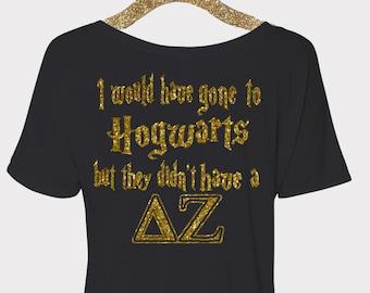 Delta Zeta Monogram Shirt, Delta Zeta Sorority T-Shirt, Delta Zeta Hogwarts, Big Little Shirt, Sorority Monogram, Delta Zeta Letters, DZ