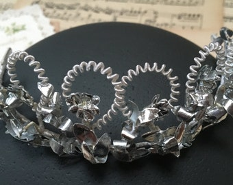 Rarity: vintage bridal wedding crown from former Eastern Germany, bridal jewelry, bridal accessory, vintage tiara, bridal wreath