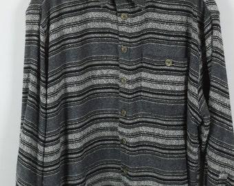 Vintage shirt, 80s clothing, shirt 80s, grey, long sleeves, oversized