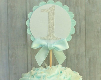 Cupcake Toppers, First Birthday Cupcake Toppers, First Birthday Party Decorations, One Cupcake Toppers, First Birthday Decorations