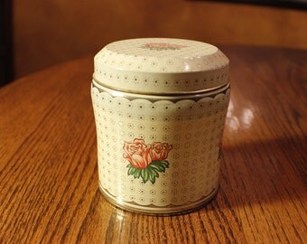 Daher Vintage Small Round Tin Canister