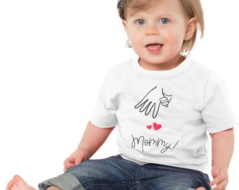 Holding Hands with Mommy Shirt Mom Daughter Son T-shirt