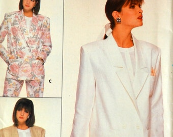 Uncut 1980s Butterick Vintage Sewing Pattern 3691, Size 14-16-18; Misses' Jacket; Family Circle Collection