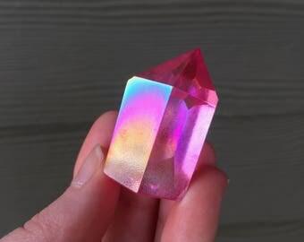 Pink Aura Quartz Point 2