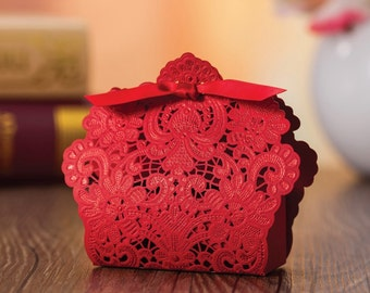 100 Laser Cut Favor Box. Great Price !