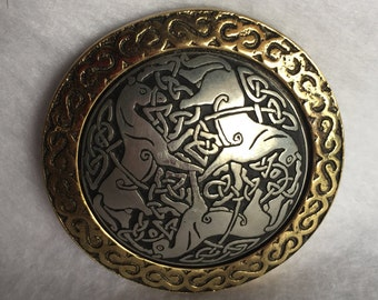 Vintage Brass and Pewter Paperweight