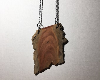 Heart O' Pine Wooden Pendant Necklace
