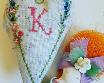 Lavender Sachet - Cross Stitch Lavender Sachet - Home Fragrances - Personalized Sachet -  Wedding Favors - Lavender Heart -  Party Favors