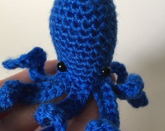 Ready to Ship - Blue Octopus, Crochet Octopus, Octopus Plush, Amigurumi Octopus, Octopus Stuffed Animal, Handmade Stuffed Animal