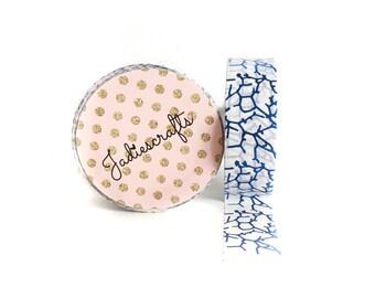 Spider Lightning Washi Tape   Blue Foil