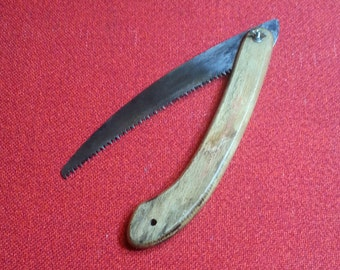 Vintage Folding Pruning Saw Pocket Saw Handsaw Gardeners Special Household Tool