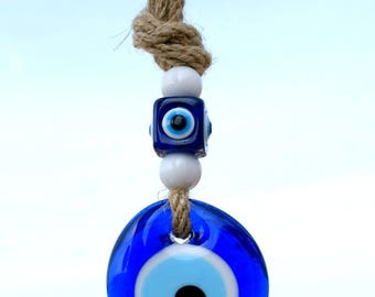 Evil eye wall hanging-Turkish Evil Eye-Nazar Boncuk -Goodluck wall hanging- Protective wall hanging -Nazar bead -Evil eye bead