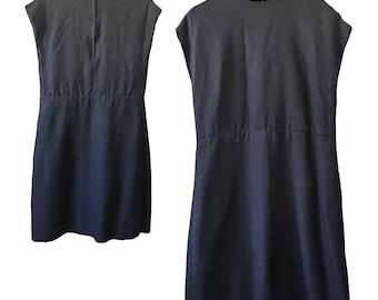 Vintage 1960s Black A-Line Dress — L/XL