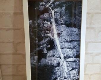 Panoramic Waterfall, Traceyarm Falls, Alaskian Falls Panoramic Print, Traceyarm Fjord Print, Panoramic Framed Print