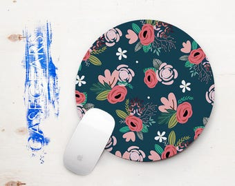 Mouse Pad Mousepad Floral Mouse Pad Coworker Gift for Coworker Office Supplies Like a Boss Cubicle Decor Desk Decor Desk Accessories Flowers