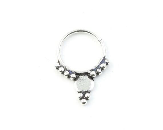 Septum Ring, Nose Ring, Body Jewelry, Tribal Septum Ring, Indian Nose Ring, Ethnic Septum Ring, Septum Piercing, Septum Jewelry.