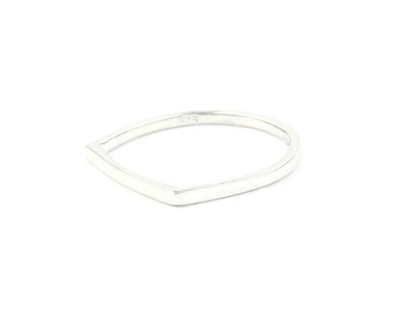 Sterling Silver Minimal Bar Ring, Band, Square Ring, Geometric Ring, Minimalist Ring, Modern, Boho, Bohemian, Gypsy, Festival Jewelry