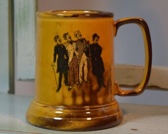 Barbershop Quartet Mug, Beer Stein, Ceramic Beer Mugs, Home Bar, Barware, Collectible