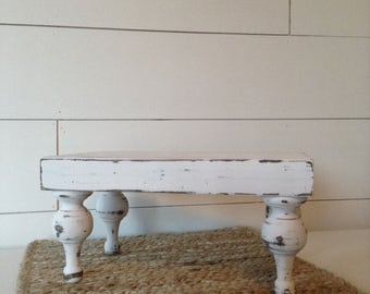 Farmhouse Tray, White, chippy, distressed, 12x7