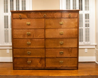 Mission Style Double Dresser