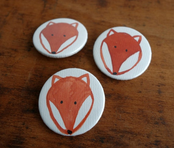 3er-Set Buttons mit Fuchs (005)