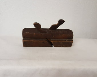 Antique wood plane, antique tool, antique carpenter tool, collectible plane, collectible tool, woodworking, carpentry, hand tool