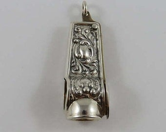 Ornate Sterling Silver Cigar Cutter
