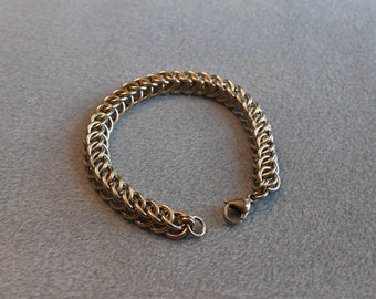 Stainless Steel Half Persian 3 in 1 Chain Maille Bracelet