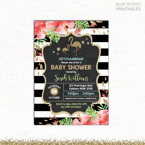 flamingo invitation flamingo baby shower invitation tropical pool